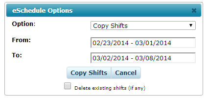 Repeat/Copy Shifts